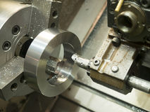 Operator machining mold and die parts for automotive Stock Image