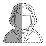 Operator man with headphone design Stock Images