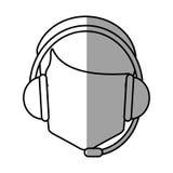 Operator man with headphone design Stock Photography