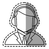Operator man with headphone design Royalty Free Stock Images