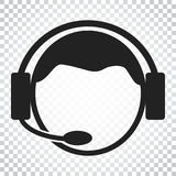 Operator with microphone vector icon. Operator in call center il Stock Photo