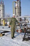 Operator in the oil and gas collection Royalty Free Stock Photos