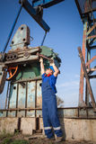 Operator in the oil and gas field Stock Image