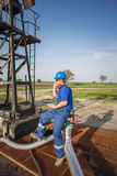 Operator in the oil and gas field Stock Photography