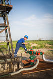 Operator in the oil and gas field Stock Images