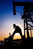 Operator in the oil and gas field Royalty Free Stock Photos
