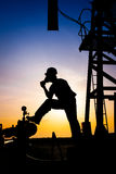 Operator in the oil and gas field Stock Photos