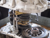 Operator repair gear box Royalty Free Stock Image