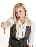 Operator's portrait Royalty Free Stock Images