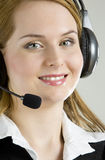 Operator's portrait Stock Photo