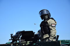 Operator of the Serbian Special Anti-terrorist Unit Stock Images