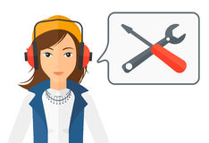 Operator of technical support Royalty Free Stock Images