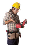 Operator with toolbox Stock Image