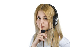 Operator woman Royalty Free Stock Images