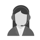 operator woman design. Operator woman icon. Technical service online support service and telemarketing theme.  design. Vector illustration Stock Images