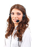 Operator woman with headset Stock Photography