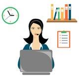 The operator woman Stock Image