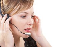 The operator on work Stock Images