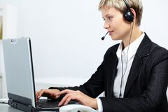 Operator during work Stock Photos