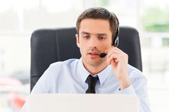 Operator at work. Royalty Free Stock Image