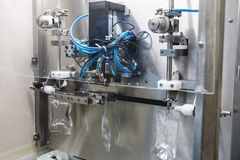 Operator work on infusion pharmaceutical industry Stock Photography