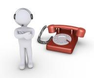 Operator z słuchawki i telefonem Zdjęcie Royalty Free