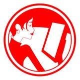 operatora żeński znak Zdjęcia Royalty Free