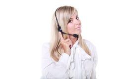 operatora telefonu poparcie Fotografia Stock