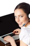 operatora telefonu poparcie obraz royalty free