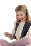 Operatore 7105 di servizio di assistenza al cliente Immagini Stock