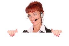 Operatore amichevole del servizio clienti Immagine Stock Libera da Diritti