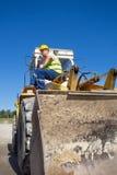 Operatore del bulldozer Fotografia Stock