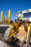 Operatore del bulldozer Immagini Stock