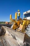 Operatore del bulldozer Fotografia Stock Libera da Diritti