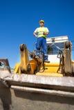 Operatore del bulldozer Fotografie Stock