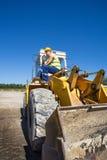 Operatore del bulldozer Immagini Stock Libere da Diritti