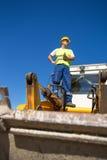 Operatore del bulldozer Immagine Stock