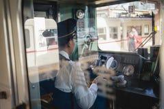 Operatore del treno fotografie stock