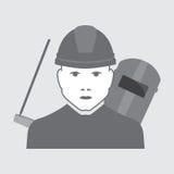 Operatore dell'escavatore di vettore Fotografie Stock Libere da Diritti