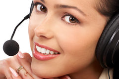 Operatore della call center. immagini stock libere da diritti