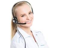 Operatore della call center isolato fotografia stock libera da diritti