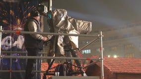 Operatore della cinepresa di televisione stock footage
