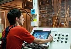 operatore della fabbrica immagini stock libere da diritti