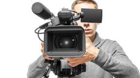 Operatore della videocamera Immagini Stock Libere da Diritti