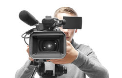 Operatore della videocamera Fotografia Stock Libera da Diritti