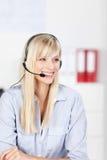 Operatore di call center Immagine Stock