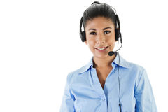Operatore di call center Immagini Stock