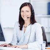 Operatore di call center grazioso Fotografie Stock