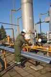 Operatore di gas Fotografie Stock Libere da Diritti