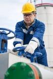 Operatore di produzione del gas fotografia stock